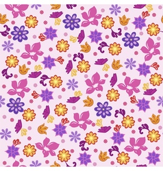 Seamless background flowers vector