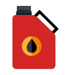 Colorful oil container graphic vector