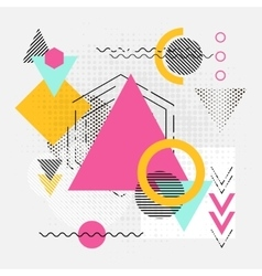 Abstract geometric shapes background with lines vector