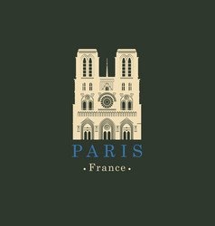 cathedral of notre dame de paris france vector image