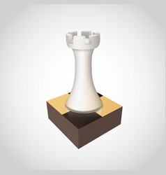 Chess rook on board vector