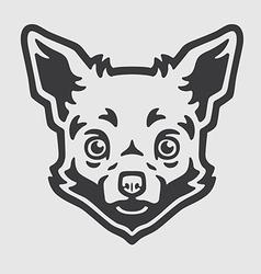 Chihuahua Head Logo Mascot Emblem vector image vector image