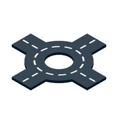 Circular interchange icon isometric 3d style vector image