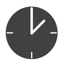 Clock web icon flat design style clock sign vector