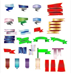 Colorful ribbon and banner vector image