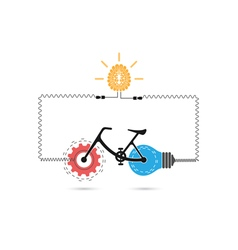 Creative bicycle logo design vector