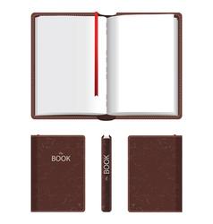 Empty book vector