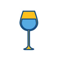 Figure tasty wine glass icon vector