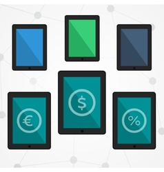 Flat tablets set vector image