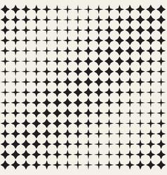 geometric seamless star shapes pattern halftone vector image