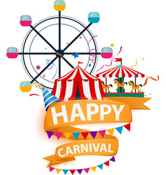 Happy carnival element background vector