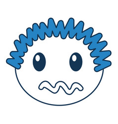 head boy angry expression vector image
