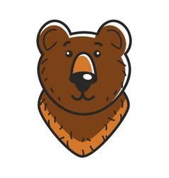 head of cute bear vector image