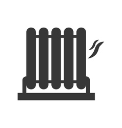 Heater silhouette icon object design vector