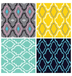 Ikat seamless pattern collection vector