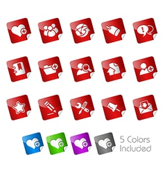 Internet Blog Stickers vector image vector image