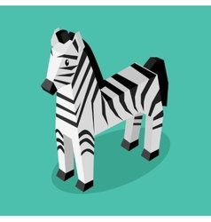 Isomeric animal zebra isolated vector