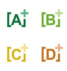 Lettering plus alphabet colorful design icon vector