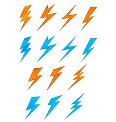 Lightning symbols vector