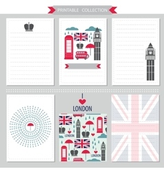 London United Kingdom printable collection vector image