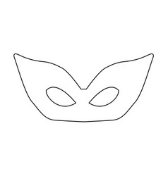 mask the black color icon vector image
