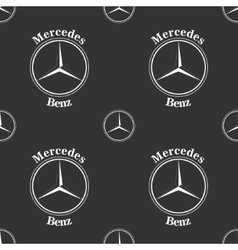 Mercedes benz emblem on dark grey background vector