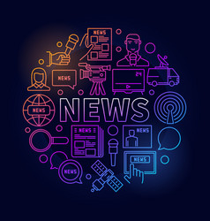 News colorful linear vector