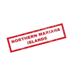 Northern mariana islands rubber stamp vector