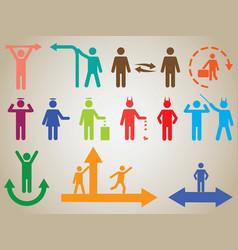 Pictogram people activities vector