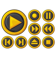 player buttons set vector image vector image