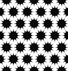 Repeating black and white star pattern vector