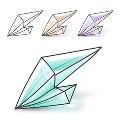 Set 4 fashion brightly colored diamonds hipster vector
