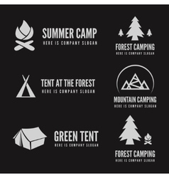 Set of modern camp badges logo emblem and vector image