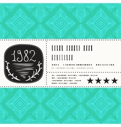 Stylization of vintage label design vector