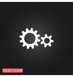 Two gears icon vector image vector image