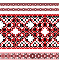 ukrainian pattern 02 vector image