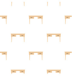 Wooden table pattern flat vector