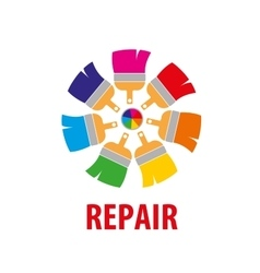 Logo for repair vector