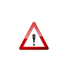 Attention red sign icon on white vector