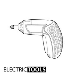 cordless drill vector image