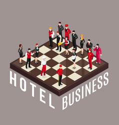 hotel business chess concept vector image
