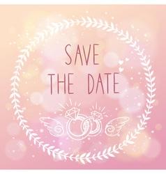 Save the date elegant wedding card vector
