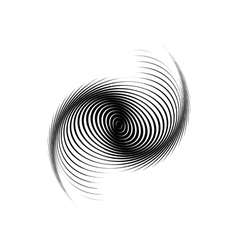 Design monochrome swirl motion background vector