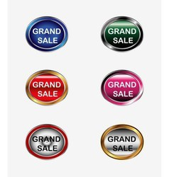 Grand sale button label vector
