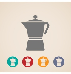 Coffee pot icons vector