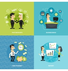 Office workers flat vector image