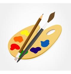 artist palette vector image