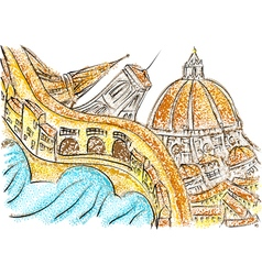 Florence italy vector