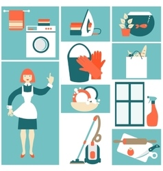 House work concept vector