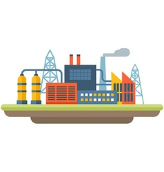 Factory concept flat style industrial landscape vector